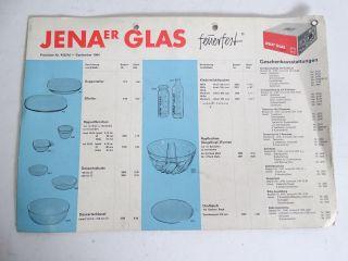 Rarität Jenaer Glas Wagenfeld Schott 4 Seitig Broschüre Produkte Und Preise 1965 Bild