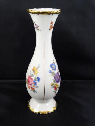 Edelstein Bavaria ältere Vase Dekor Bunte Blumen Gold Handarbeit Bild