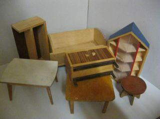 Möbel - Konvolut 5 - Holz - Puppenhaus - Puppenstube Bild