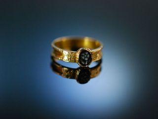 Antiker Verlobungs Engagement Ring England Um 1880 Gold 585 Achat Kamee Cameo Bild