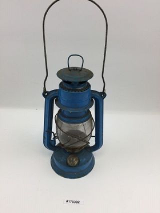Ddr Bat No.  158 Petroleumlampe Bunkerlampe Sturmlaterne Blau 170392 Bild