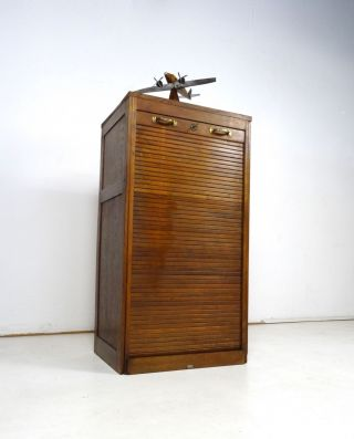 Art Deco Rolladenschrank Aktenschrank Rollschrank Jugendstil Antik BÜro Bild