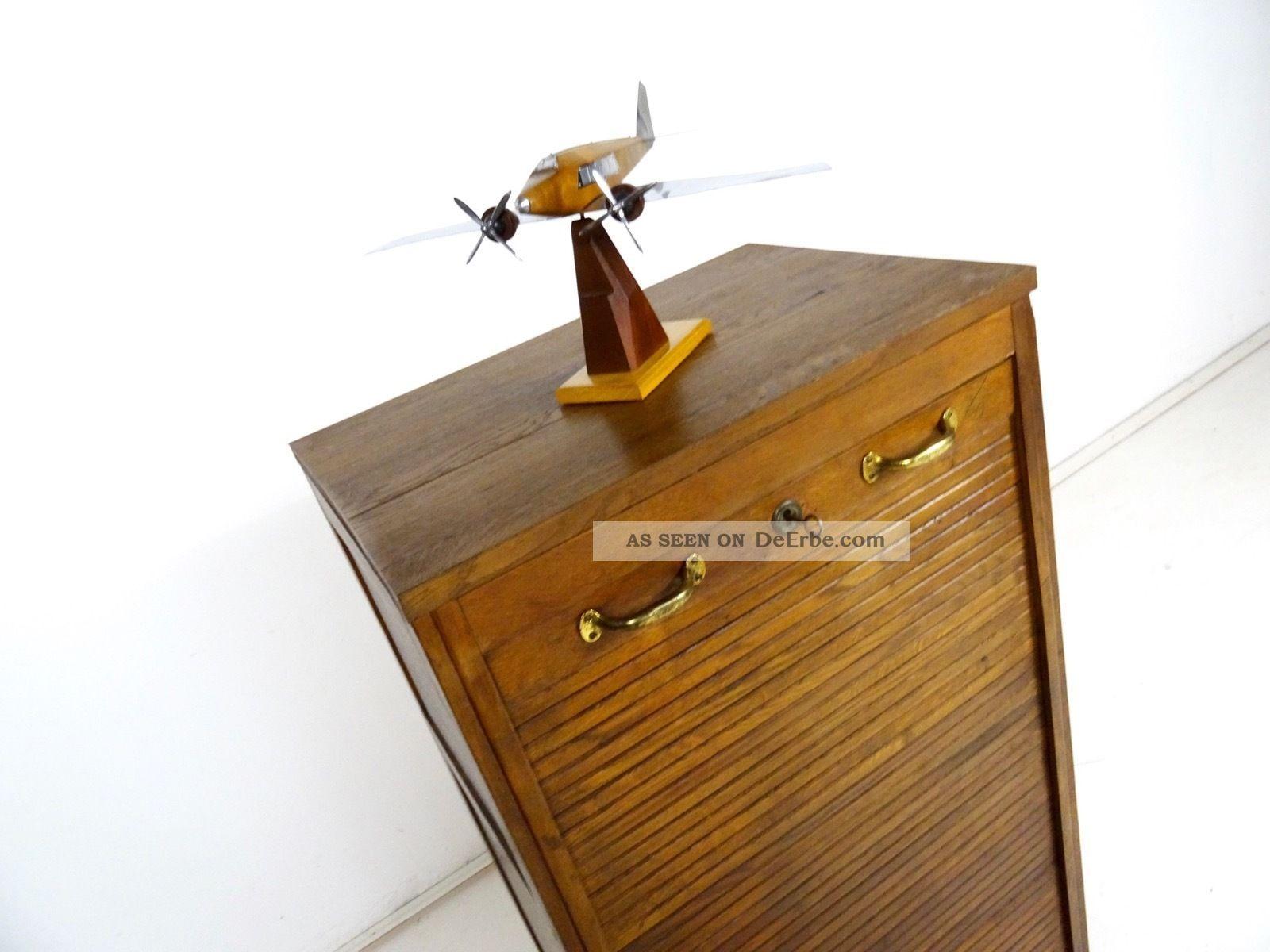 Art Deco Rolladenschrank Aktenschrank Rollschrank Jugendstil