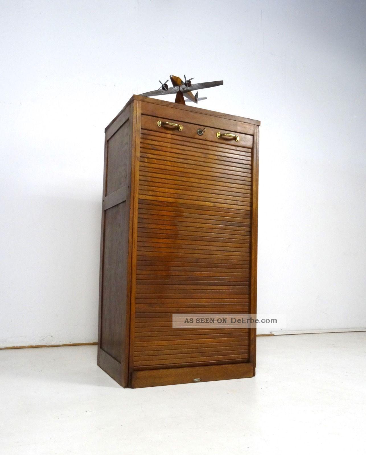 Art Deco Rolladenschrank Aktenschrank Rollschrank Jugendstil Antik Buro