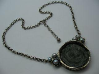 Perli Wunderschöne Designer Collier Kette Aus 925 Silber Mit Chalcedon Bild