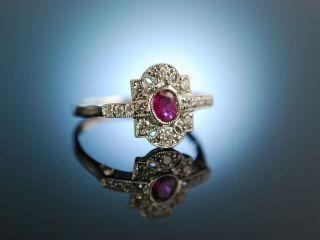 Ruby Diamond Engagement Ring Verlobungsring Weiss Gold 750 Rubin Brillanten Bild