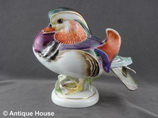 Meissen Porzellan Figur Vogel Ente Mandarinente Max Esser Mod.  F287 - Selten Rar Bild