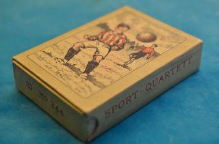 Sammlerstück Altes Bernhard Dondorf Nr.  344 Quartettspiel Sport - Quartett Um 1910 Bild