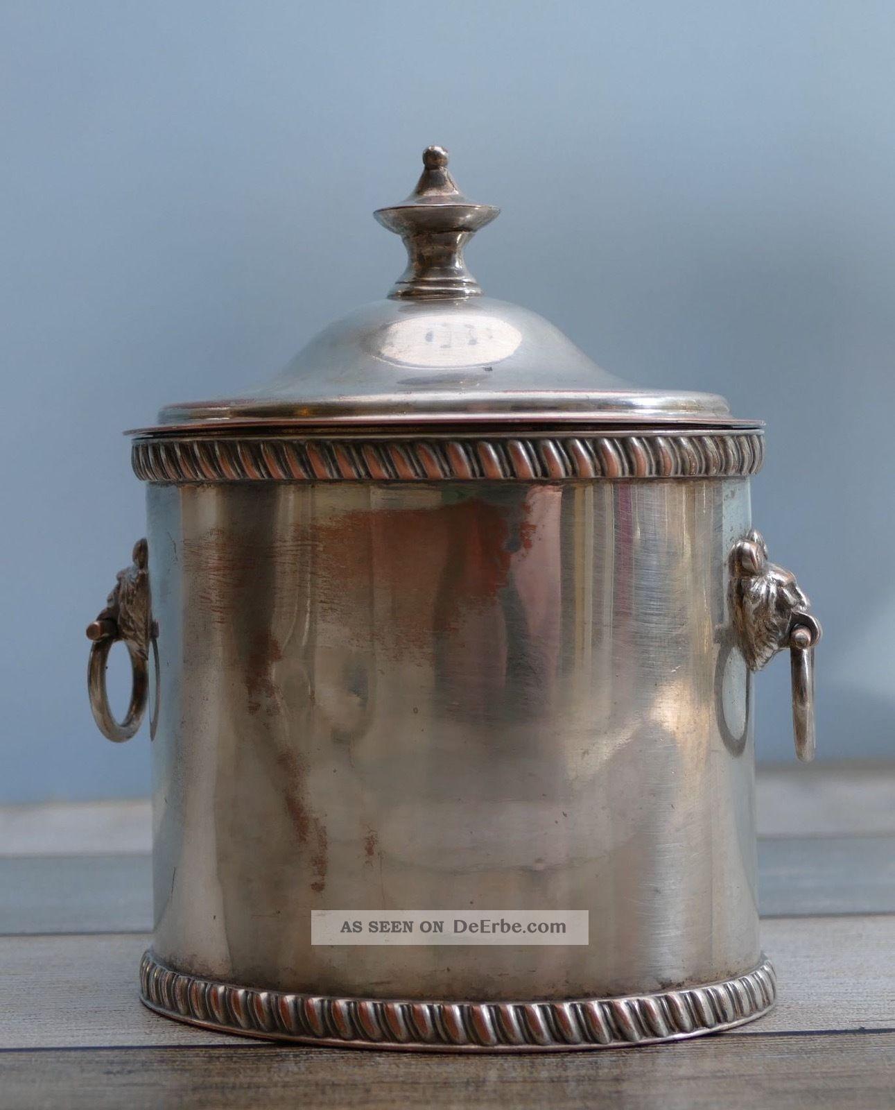 Kleine Engelse Ovale Silver Plated Suikerdoos 1880 Objekte vor 1945 Bild