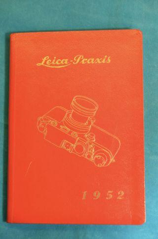 Leica Praxis 1952 Kalenderbuch Foto - Kino Wegert Berlin Leica Bedienung Bild