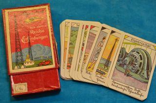 Sammlerstück Quartettspiel Aus Dem Reiche Der Erfindungen Bild