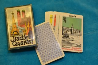 Sammlerstück Quartettspiel Städte - Quartett Bild