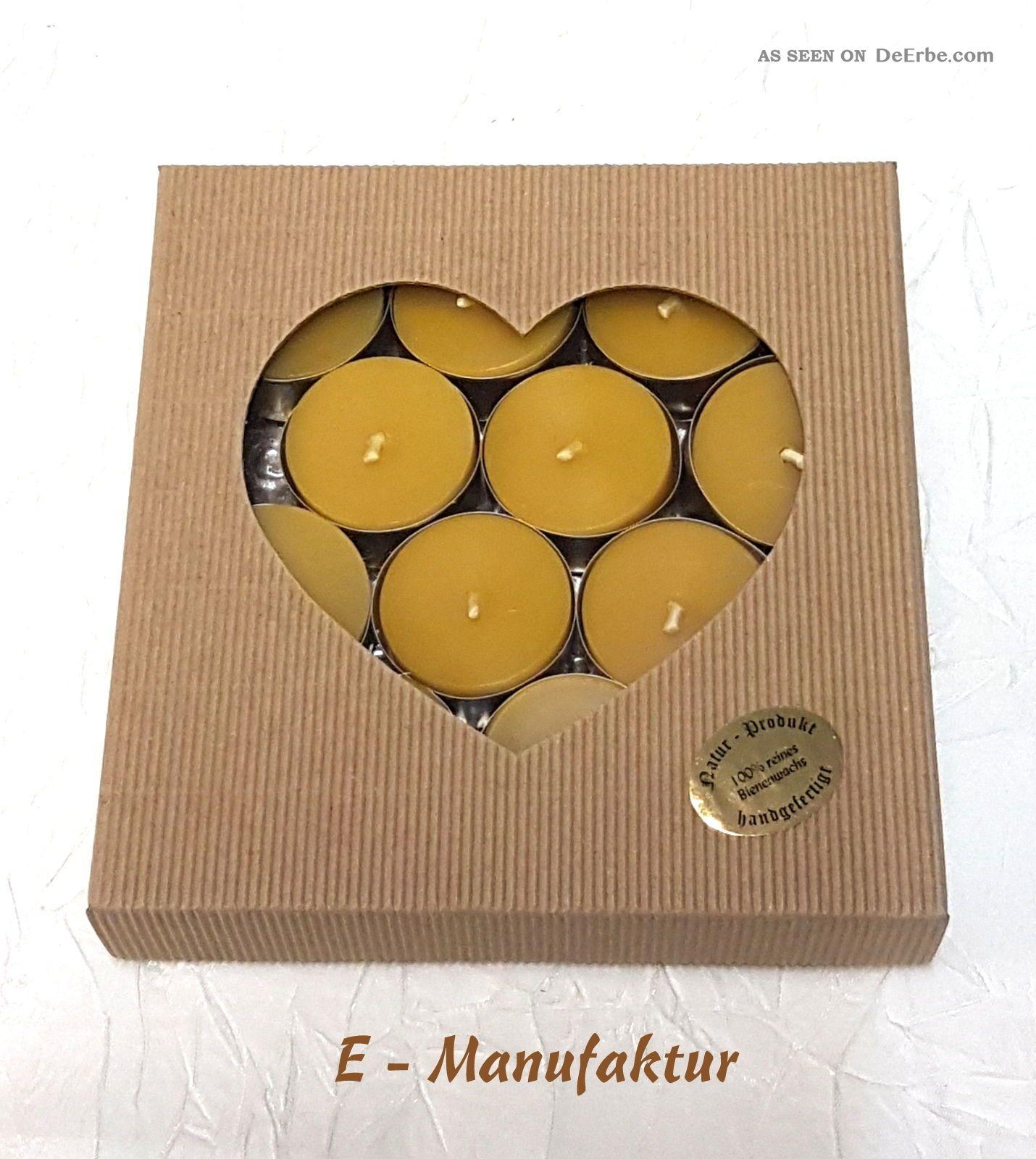 bienenwachskerzen 12 st ck teelichter aus 100 echtem bienenwachs in goldenen. Black Bedroom Furniture Sets. Home Design Ideas