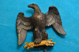 Alter Dekorativer Bronze Adler Figur Wanduhraufsatz Um 1910 - 1930 Bild