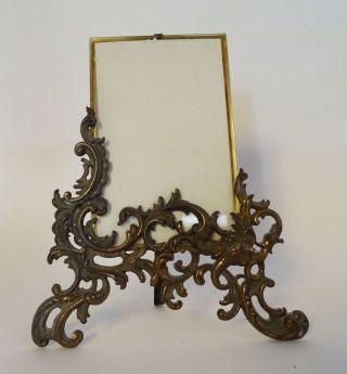 Antiker Jugendstil Bilderrahmen Mit Ständer Mit Ausgefallener Ornamentik Bild