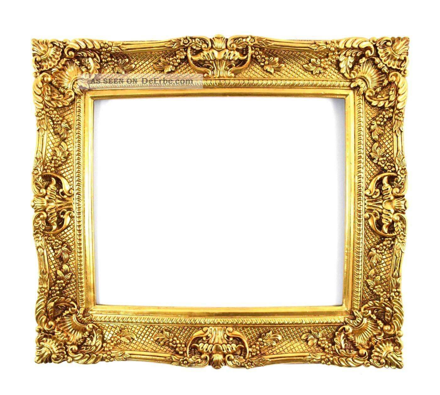 Großer Bilderrahmen 75 X 85 / 50 X 60 Cm Barock Gemälde Prunkrahmen ...