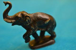 Alte Antike Orig.  Bronzefigur Tierfigur Elefant Um 1910 - 1930 Bild