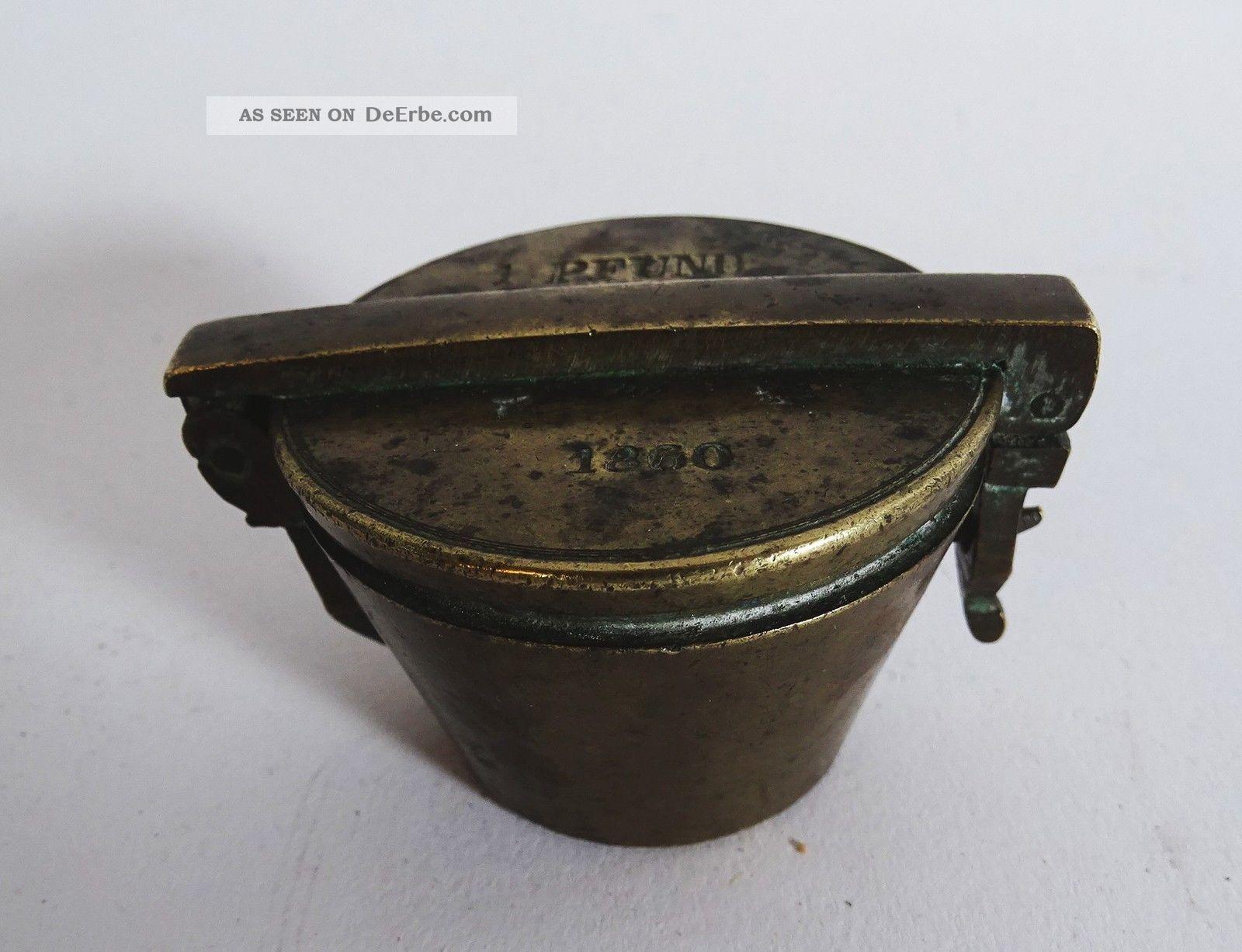 Antikes Biedermeier Bechergewicht 1860 Gewichtsatz Punziert Absolute Rarität Kaufleute & Krämer Bild