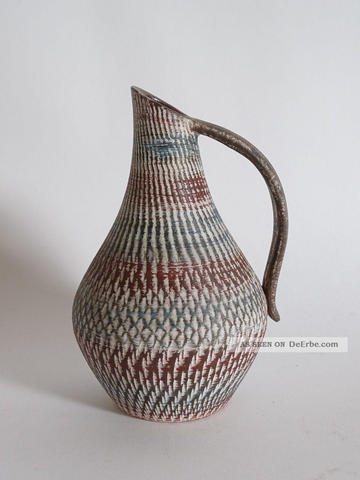 Studio Design Ausgefallene Keramik Höhr Grenzhausen Vase 50er Jahre 235/18 Nr 36 1950-1959 Bild