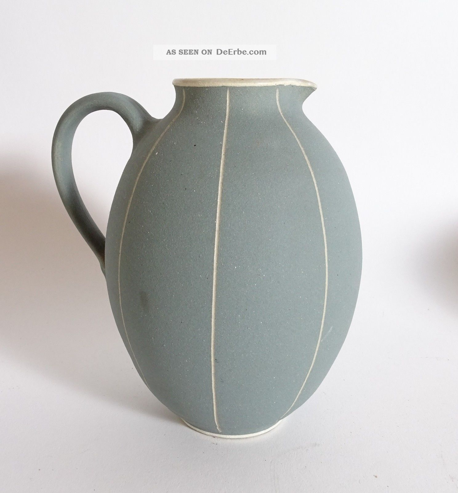 Studio Design 50er Jahre Mid Century Keramik Vase Henkel Hellblau Tolles Design 1950-1959 Bild