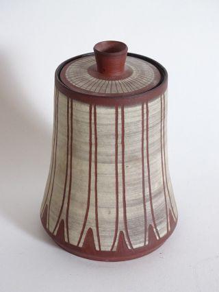 Mid Century 50er Jahre Studio Design Keramik Deckel Vase Ausgefallenes Design Bild