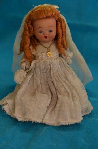 Antike Porzellan/keramik Puppe Mit Schlafaugen Bild