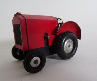 Antiker Blechspielzeug Traktor Trecker Schlepper Mit Uhrwerk Made In Germany Rot Bild