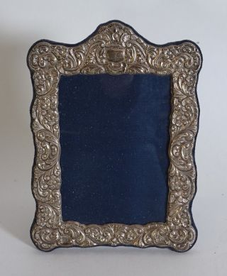 Filigraner Jugendstil 925 Silber Bilderrahmen Standrahmen Tolle Rarität Bild