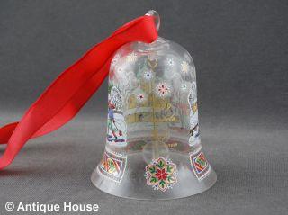 Hutschenreuther Weihnachtsglocke Glas 1999 Oberpfalz Bild