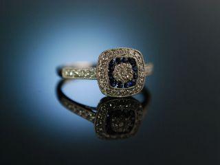 Marry Me Engagement Ring Verlobungsring Weiss Gold 750 Saphire Brillanten Bild