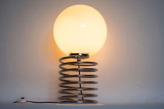 Honsel Spiral Lampe Opal Kugel Nach Ingo Maurer Design 70er Panton Bild