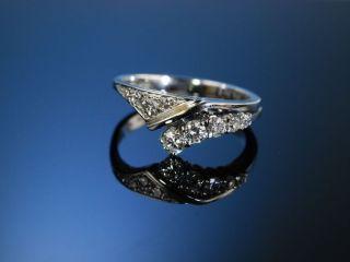 Diamant Ring Weiss Gold 585 Brillanten MÜnchen Um 1990 Vintage Diamond Ring Bild