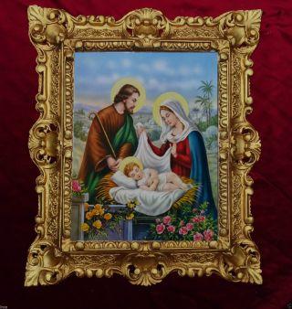 GemÄlde Nativita Di Gesu Bambino Ikonen Bilder Antik Barock Look 45x38cm 345b Bild