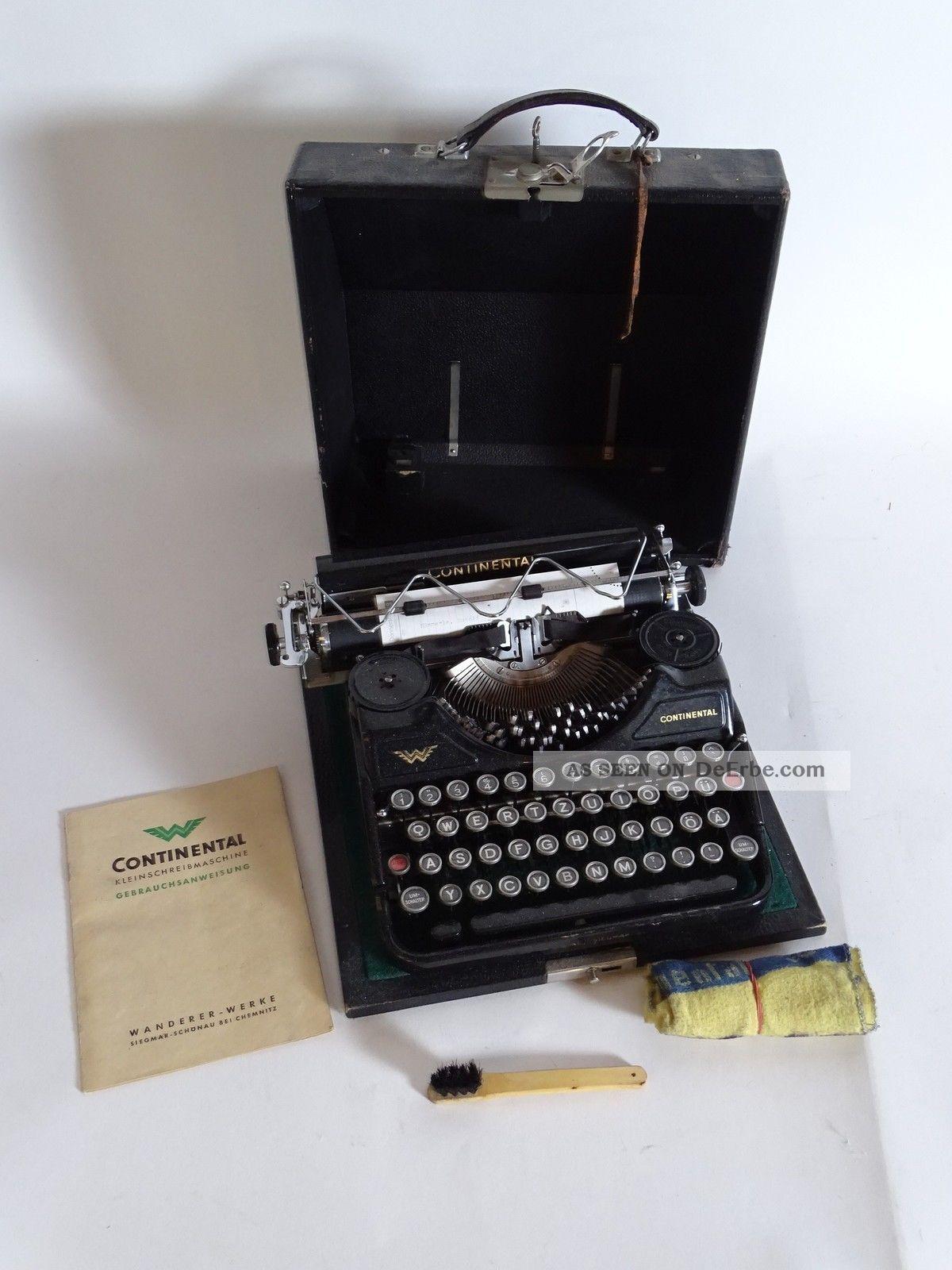 Antike Continental Klein Schreibmaschine Wanderer Werke Chemnitz Antike Bürotechnik Bild