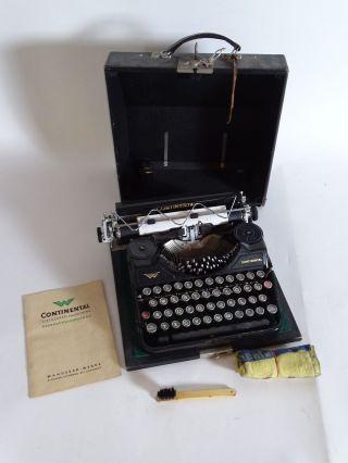 Antike Continental Klein Schreibmaschine Wanderer Werke Chemnitz Bild
