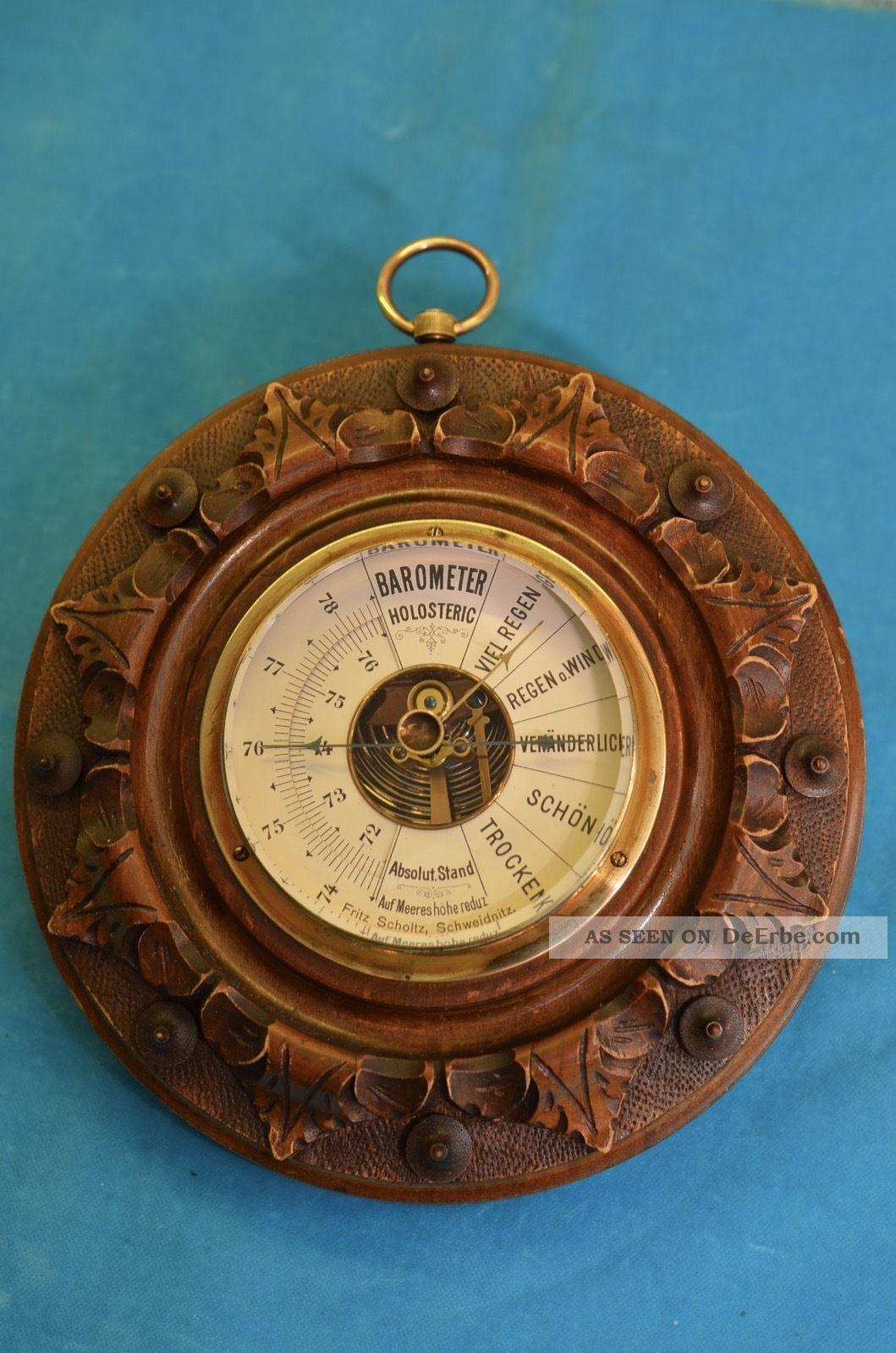 Altes Art Deco Barometer Um 1920/1930 Technik & Instrumente Bild