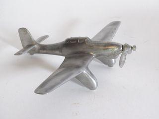 Antikes Flugzeug Modell Aus Metall Kampfflugzeug Kriegsflugzeug Bild