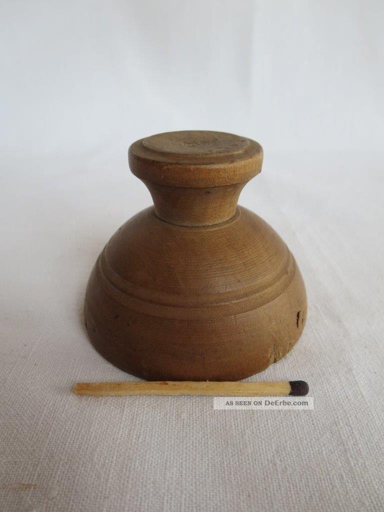 Kleines,  Uraltes Buttermodel,  Holz,  Muschelform Original, gefertigt vor 1970 Bild