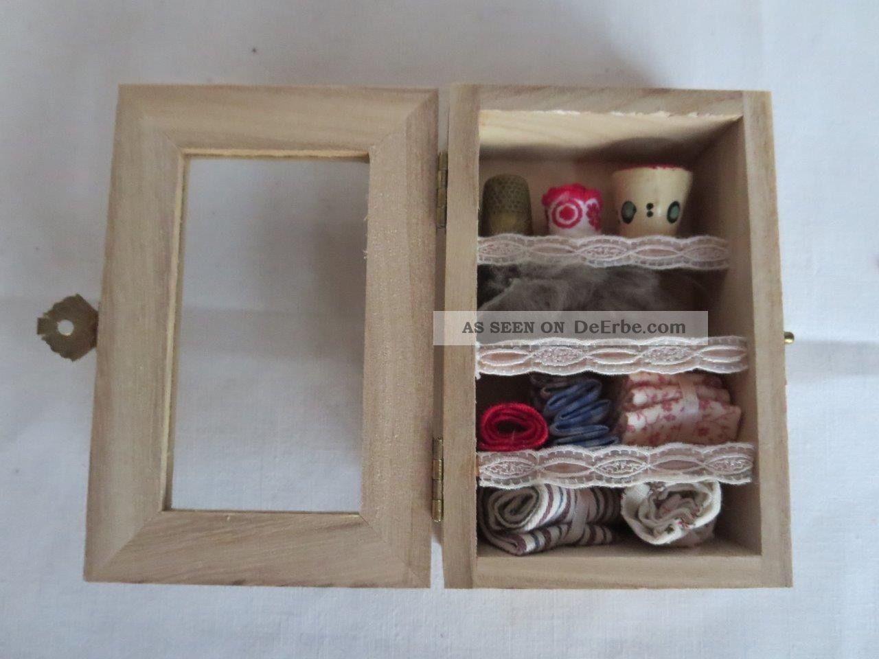 Kleiner Schrank Für Den Puppen Modeladen,  Echt Handarbeit Puppen & Zubehör Bild