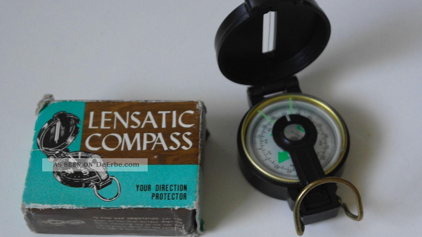 Vintage Engineer Lensatic Compass Mod 0322 Japan 60`s Wissenschaftliche Instrumente Bild