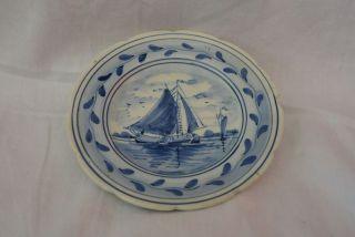 Kleiner Handbemalter Zierteller - Porzellan - Delft Made In Holland Bild