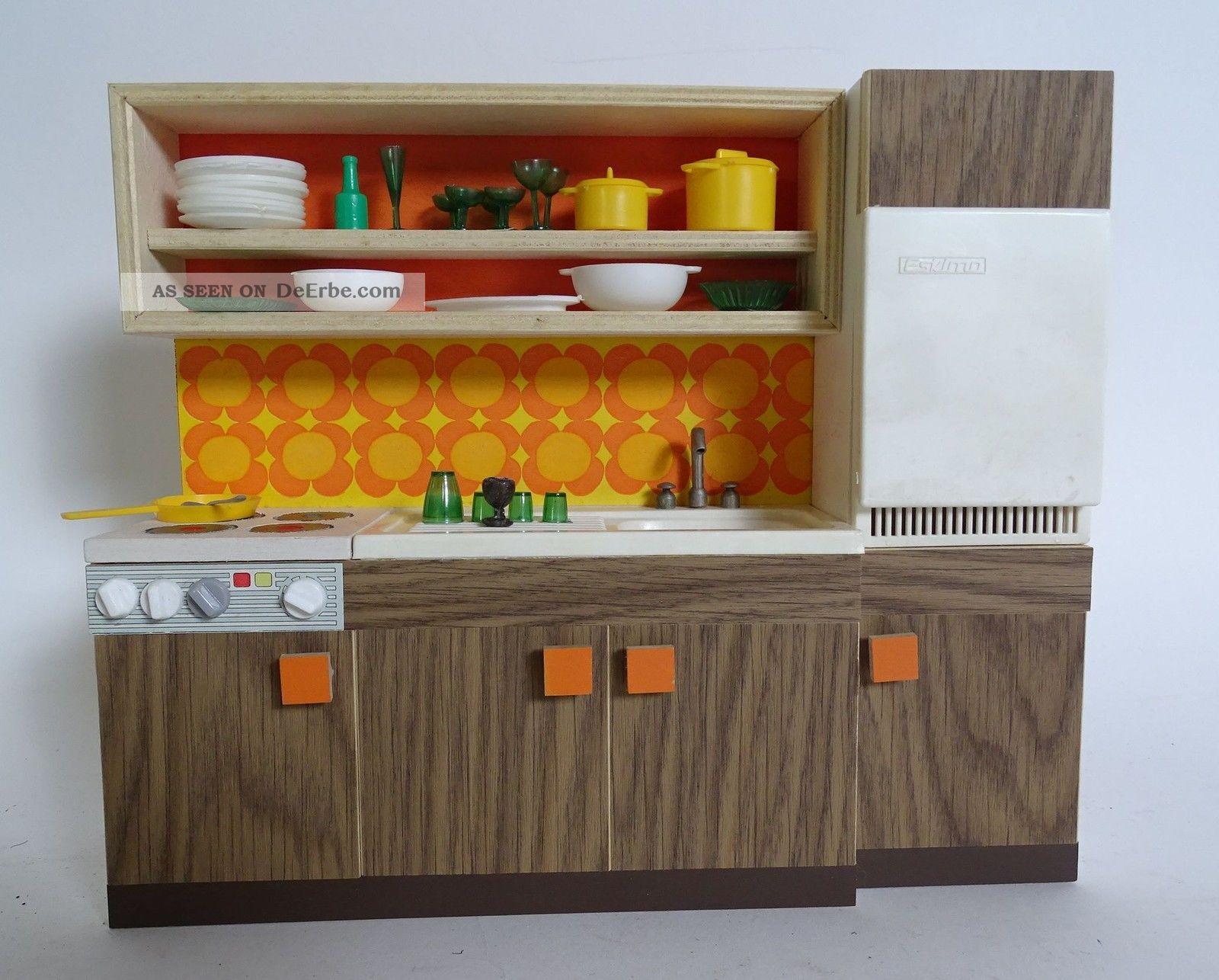 Panton Ära 70er Jahre Puppenstuben Küche Zubehör Küchenzeile Puppen Rarität Nostalgieware, nach 1970 Bild