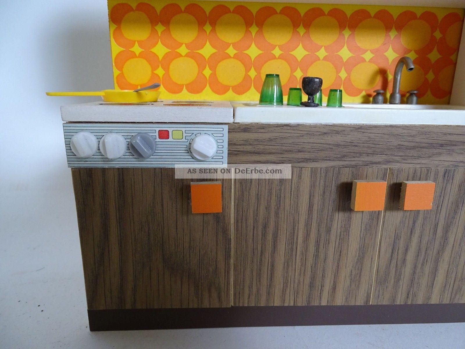 Panton Ära 70er Jahre Puppenstuben Küche Zubehör Küchenzeile ...