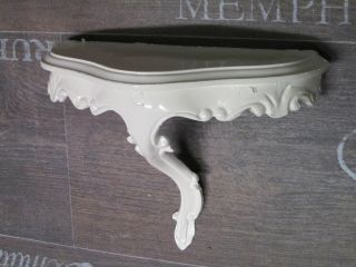 Mini Wandkonsole Konsole Ablage Weiß Barock Repro 23,  5x10x18cm Wandspiegel 2 Bild