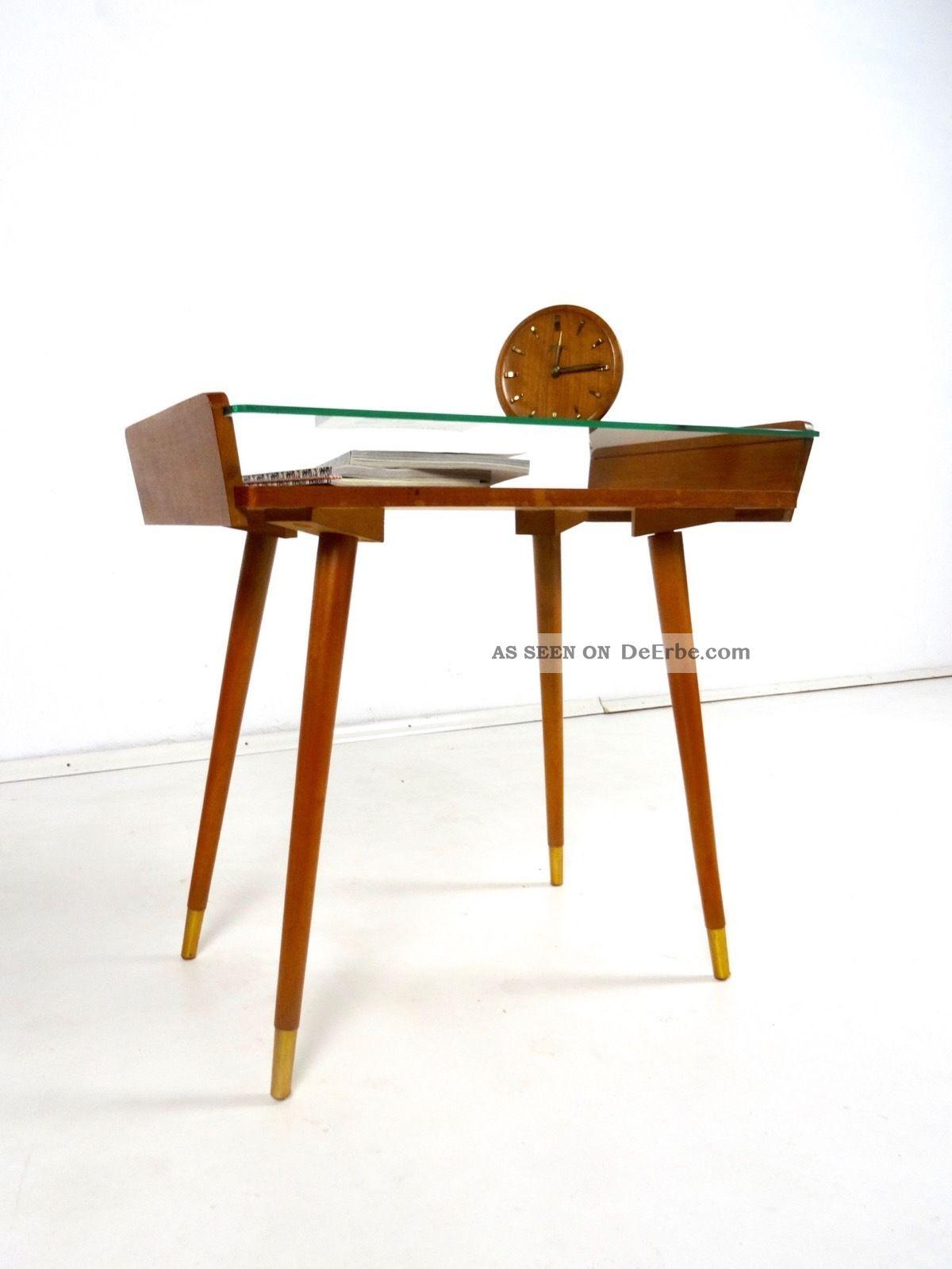 Seltener 50er Vintage Beistelltisch 60er Danish Modern Mid Century Tischchen 1950-1959 Bild
