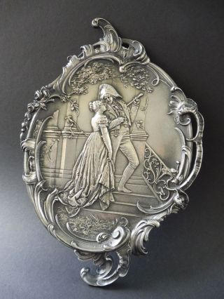 Jugendstil Visitenkarte Schale Napolen Maiden Art Nouveau Visiting Card Tray Wmf Bild