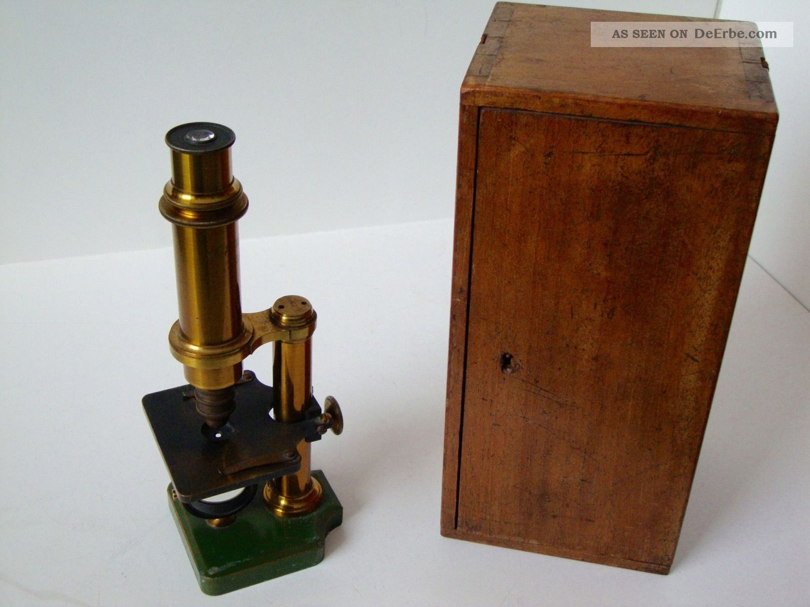 Mikroskop Aus Messing Um 19.  Jhd.  Dr.  E.  Hartnack Potsdam Optiker Bild