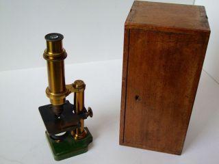 Mikroskop Aus Messing Um 19.  Jhd.  Dr.  E.  Hartnack Potsdam Bild