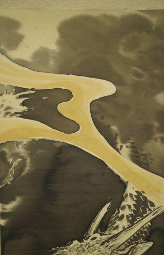 Antikes Japanisches Rollbild Kakejiku Drache Japan Scroll 3416 Bild