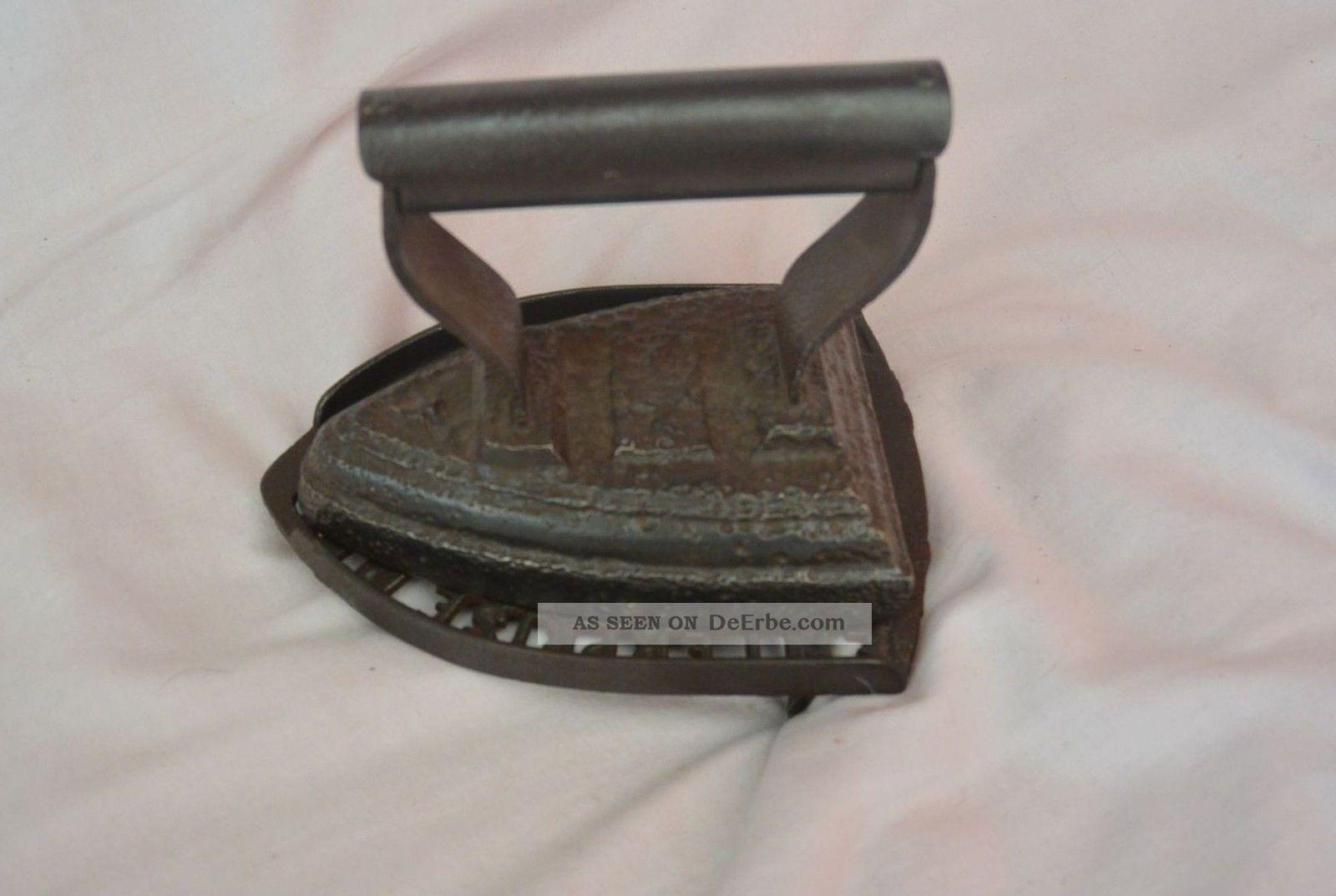 Antik Bügeleisen Gußeisern Antik Enterprise Untersetzer Mfc Co Philadelphia Haushalt Bild